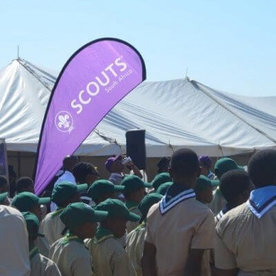 SCOUTS SA Feather Banner