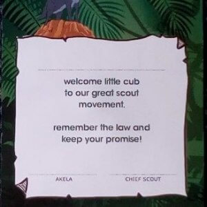 Cub Welcome certificate